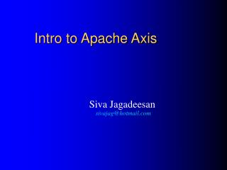 intro to apache axis