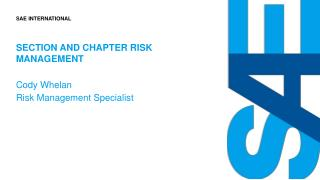 Section and Chapter Risk Management