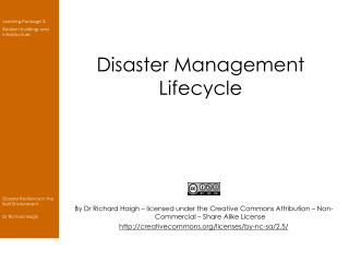 Disaster Management Lifecycle