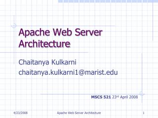 apache web server architecture