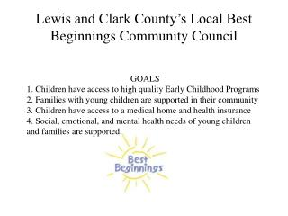 Lewis and Clark County's Local Best Beginnings Community Council