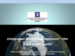 Integrated  Marine Management -  the Norwegian model