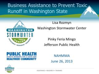 Business Assistance to Prevent Toxic Runoff in Washington State