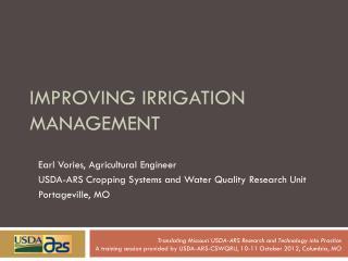 Improving irrigation management