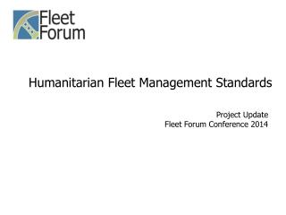 Humanitarian Fleet Management Standards