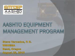 AASHTO Equipment Management Program