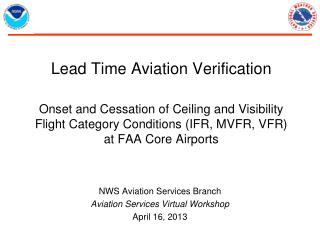 NWS Aviation Services Branch Aviation Services Virtual Workshop April 16, 2013