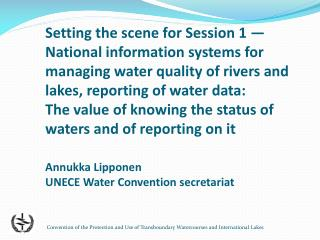 Promotion of information exchange between  Riparian  Parties under UNECE Water Convention