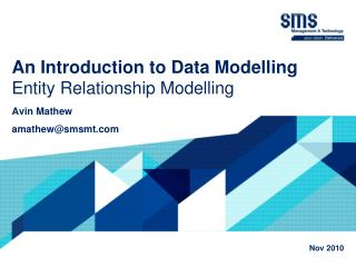 An Introduction to Data  Modelling