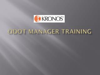 ODOT Manager Training