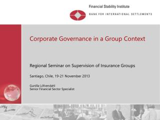 Corporate Governance in a Group Context