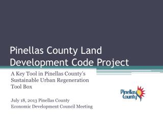 Pinellas County Land Development Code Project