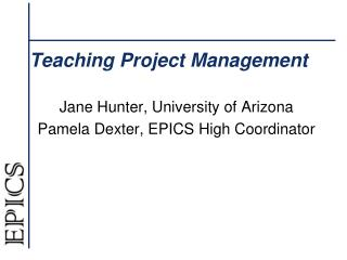 Teaching  Project Management