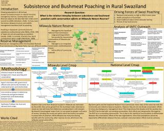 Subsistence and Bushmeat  Poaching in Rural Swaziland
