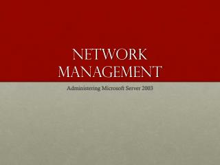 Network Management
