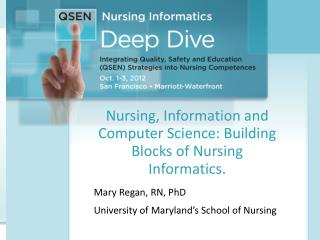 Nursing, Information and Computer Science: Building Blocks of Nursing Informatics.