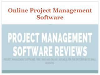 Online Project Management Software