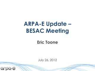 ARPA-E Update – BESAC Meeting