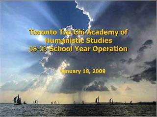 toronto tzu chi academy of humanistic studies                                       08-09 school year operation