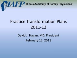 Practice Transformation Plans 2011-12