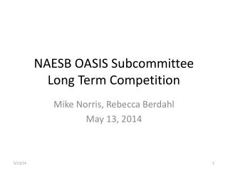NAESB OASIS Subcommittee Long  Term Competition