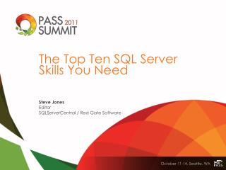 The Top Ten SQL Server Skills You Need