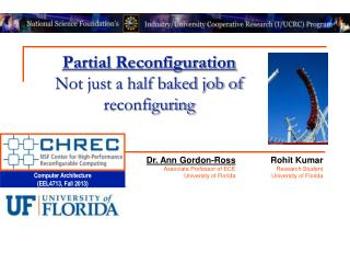 Partial Reconfiguration Not just a half baked job of reconfiguring