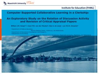 Computer Supported Collaborative Learning in a Clerkship:  An Exploratory Study on the Relation of Discussion Activity