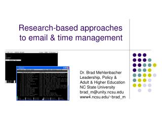 Research-based approaches  to email  &  time  management