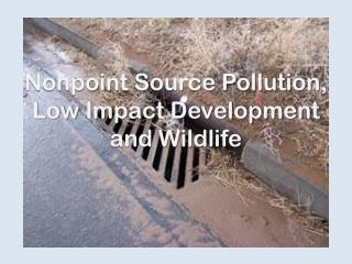 Nonpoint Source Pollution, Low Impact Development and Wildlife