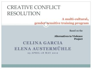 A multi-cultural , gender-sensitive training program