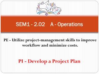 SEM1 - 2.02    A - Operations
