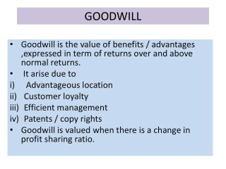 Goodwill accounting term