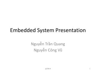 Embedded System Presentation