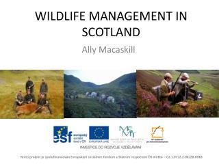 WILDLIFE MANAGEMENT  IN SCOTLAND