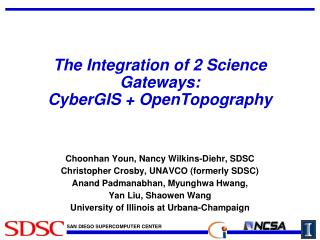The Integration of 2 Science Gateways: CyberGIS +  OpenTopography