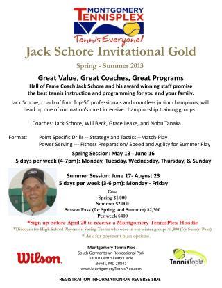 Jack Schore Invitational Gold