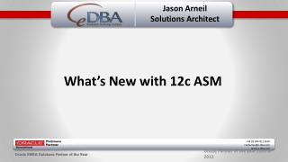 Jason Arneil Solutions Architect