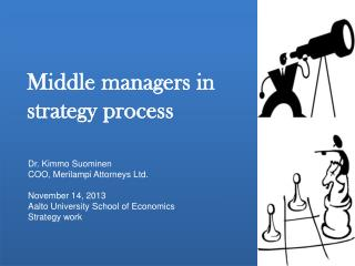 Middle managers in strategy process