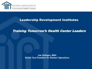 Leadership Development Institutes Training Tomorrow's Health Center  Leaders