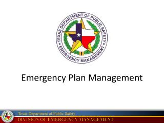 Emergency Plan Management