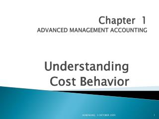 Chapter  1 ADVANCED MANAGEMENT ACCOUNTING