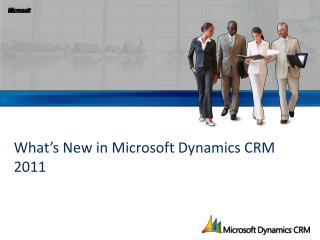 What�s New in Microsoft Dynamics CRM 2011