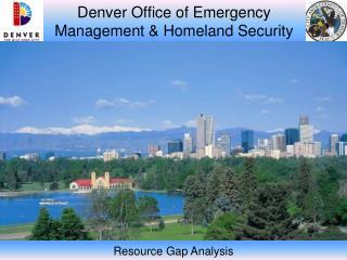 Denver Office of Emergency Management & Homeland Security