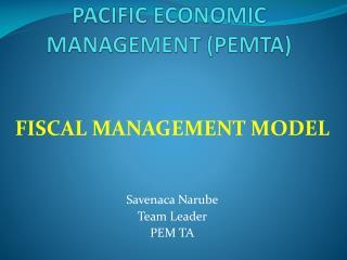 PACIFIC ECONOMIC MANAGEMENT (PEMTA)