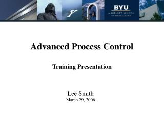 advanced process control training presentation