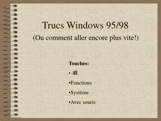 Trucs Windows