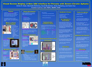 visual scenes display: a new aac interface for persons with severe chronic aphasia