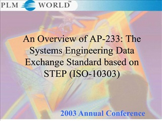 an overview of ap-233: the systems engineering data exchange standard based on step iso-10303