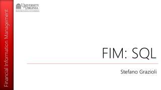 FIM: SQL